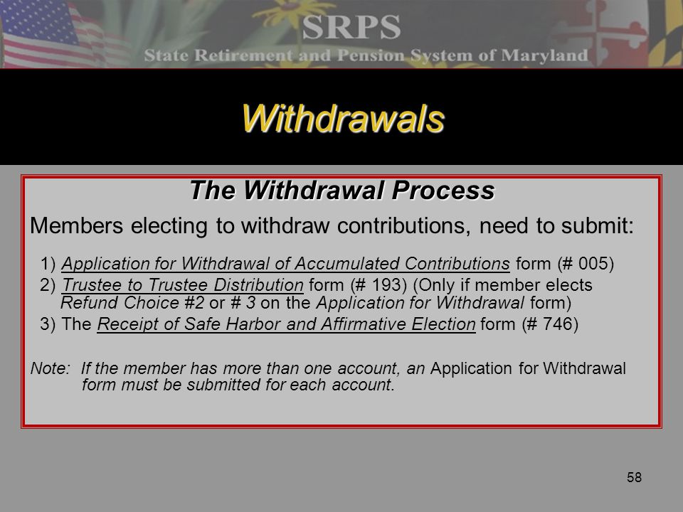 The Withdrawal Process