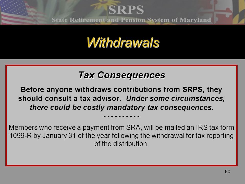 Withdrawals Tax Consequences