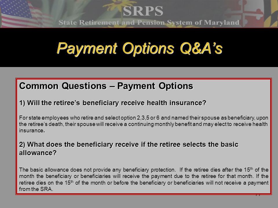 Payment Options Q&A's Common Questions – Payment Options