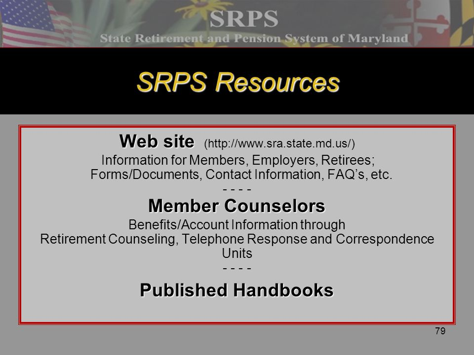 SRPS Resources Web site (
