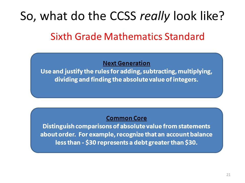 So, what do the CCSS really look like
