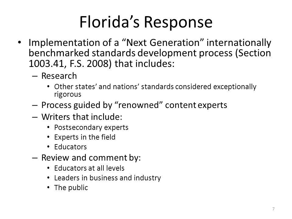 Florida's Response