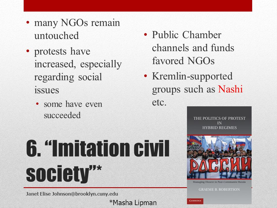 6. Imitation civil society *