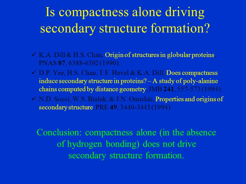 Is compactness alone driving secondary structure formation