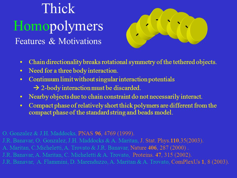 Thick Homopolymers Features & Motivations
