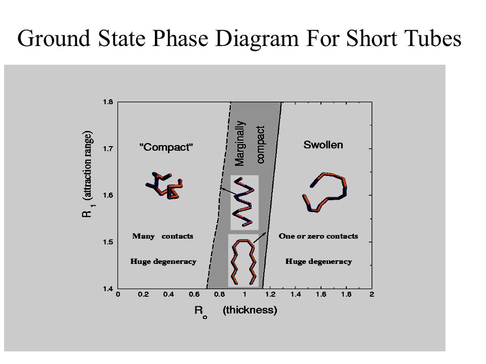 Ground State Phase Diagram For Short Tubes