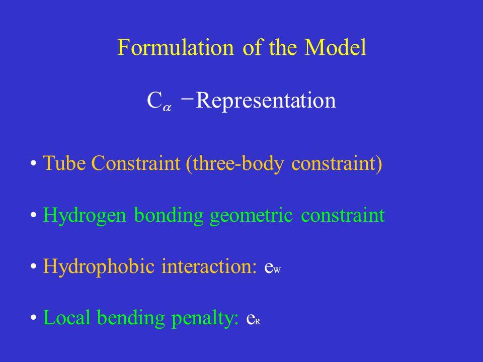 Formulation of the Model