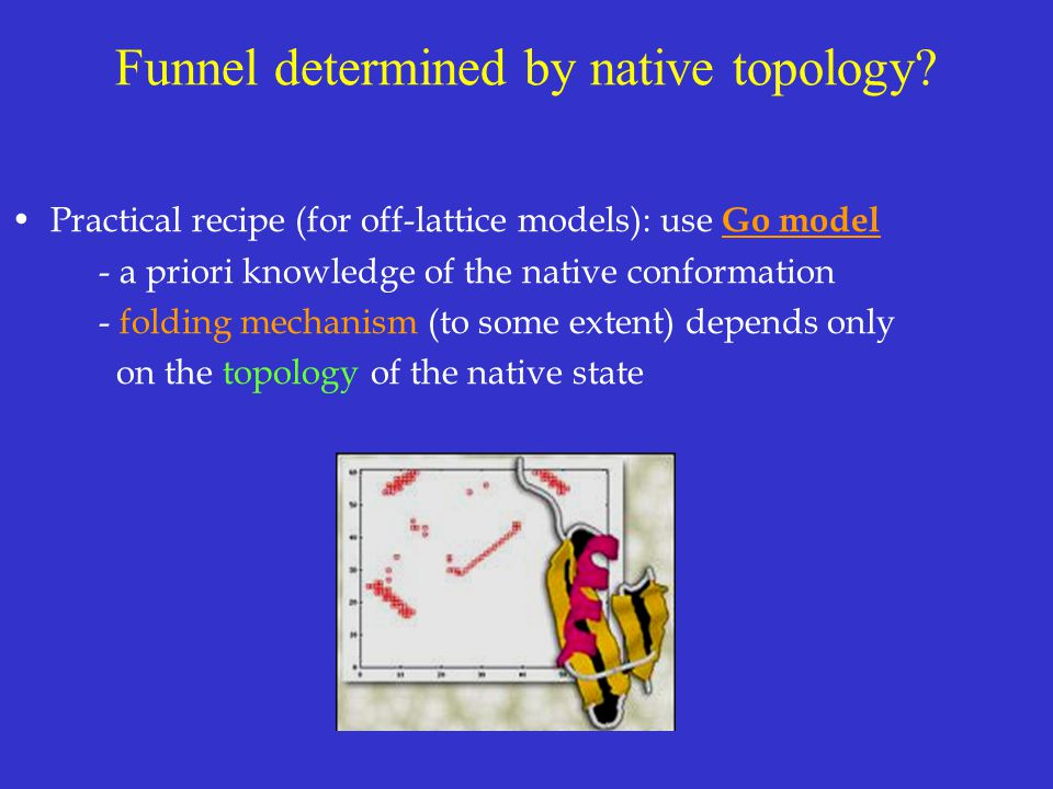 Funnel determined by native topology