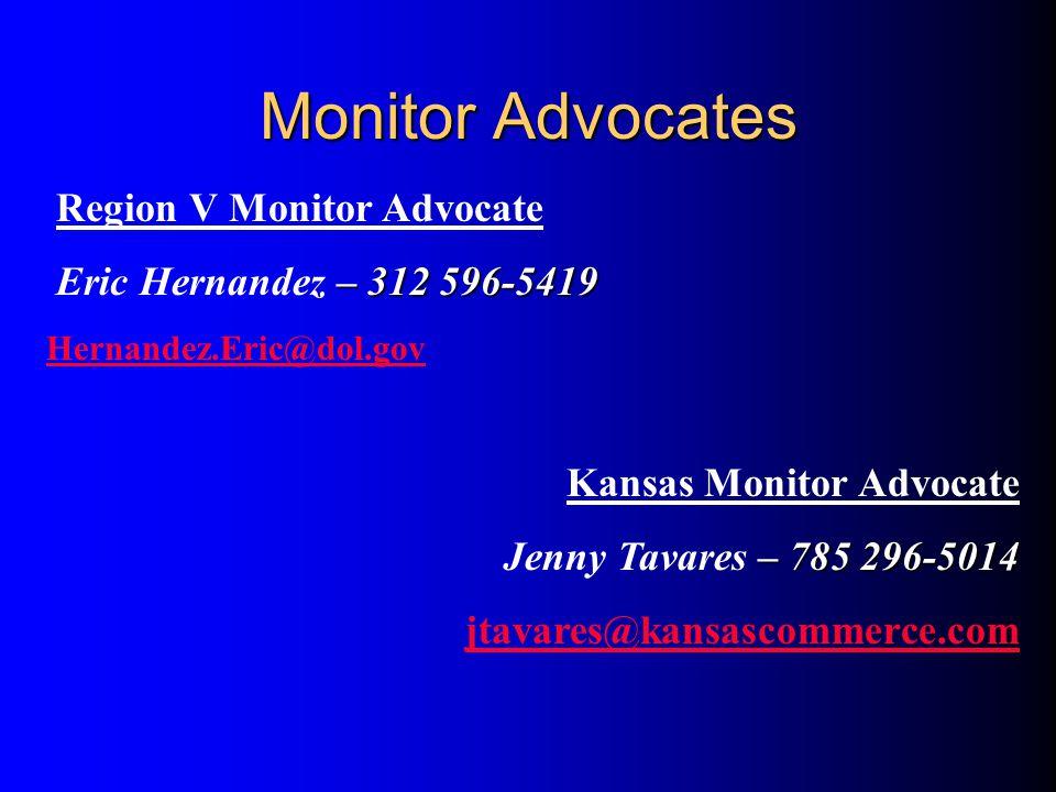 Monitor Advocates Region V Monitor Advocate