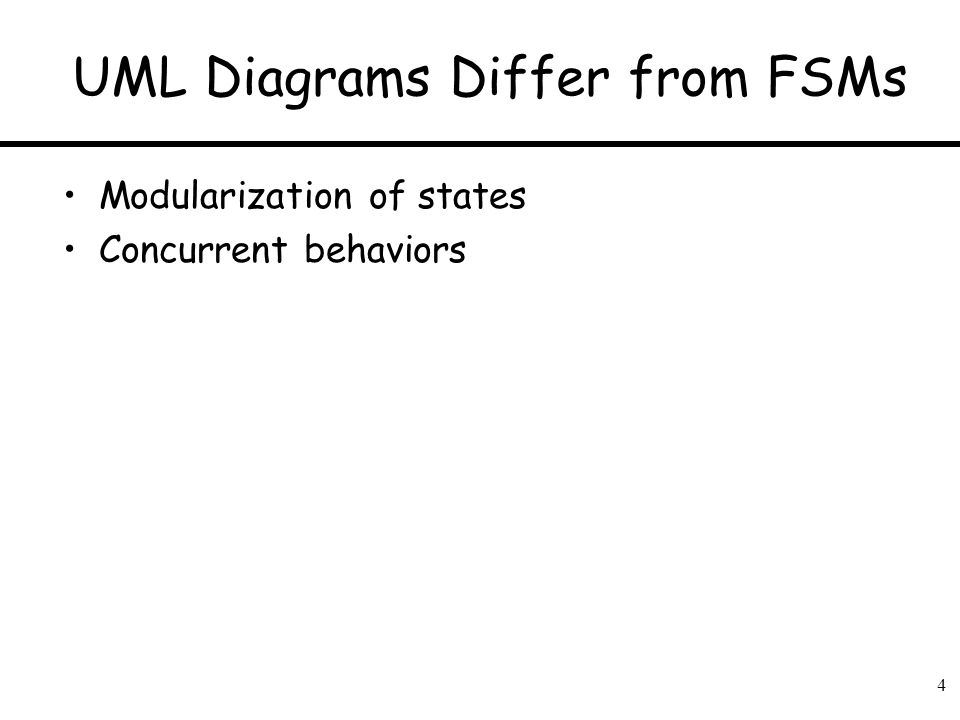 UML Diagrams Differ from FSMs