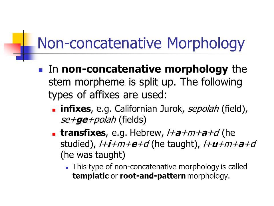 Non-concatenative Morphology