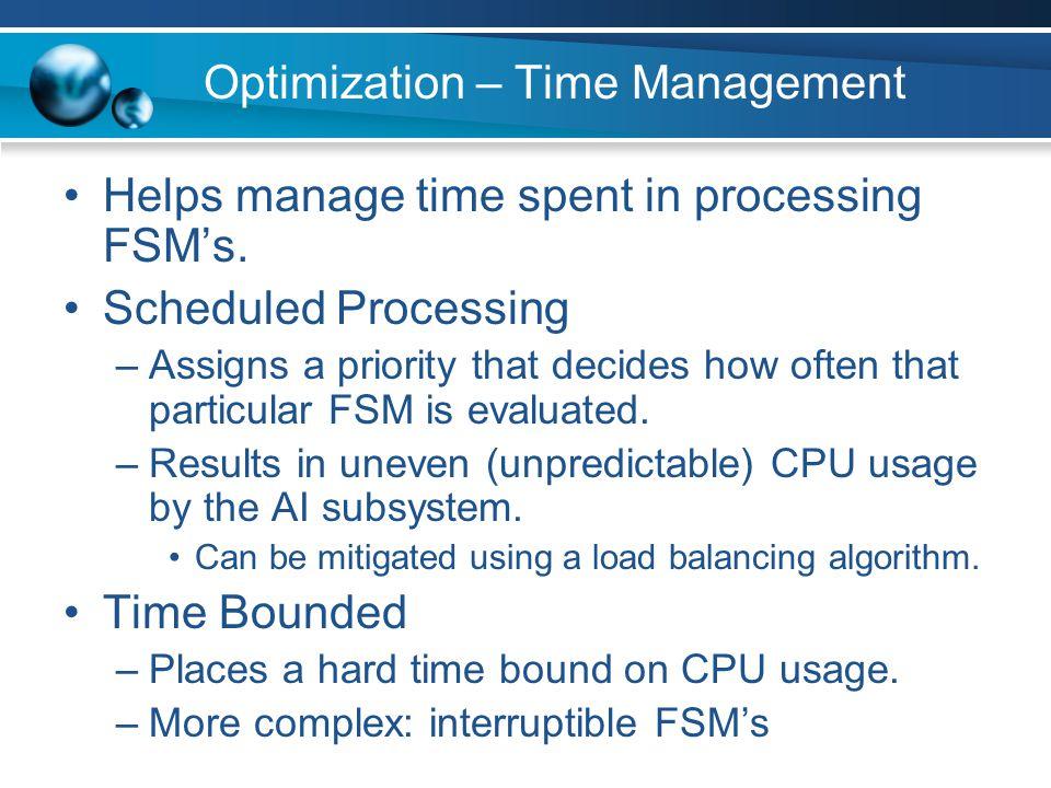 Optimization – Time Management