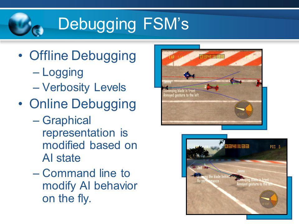 Debugging FSM's Offline Debugging Online Debugging Logging