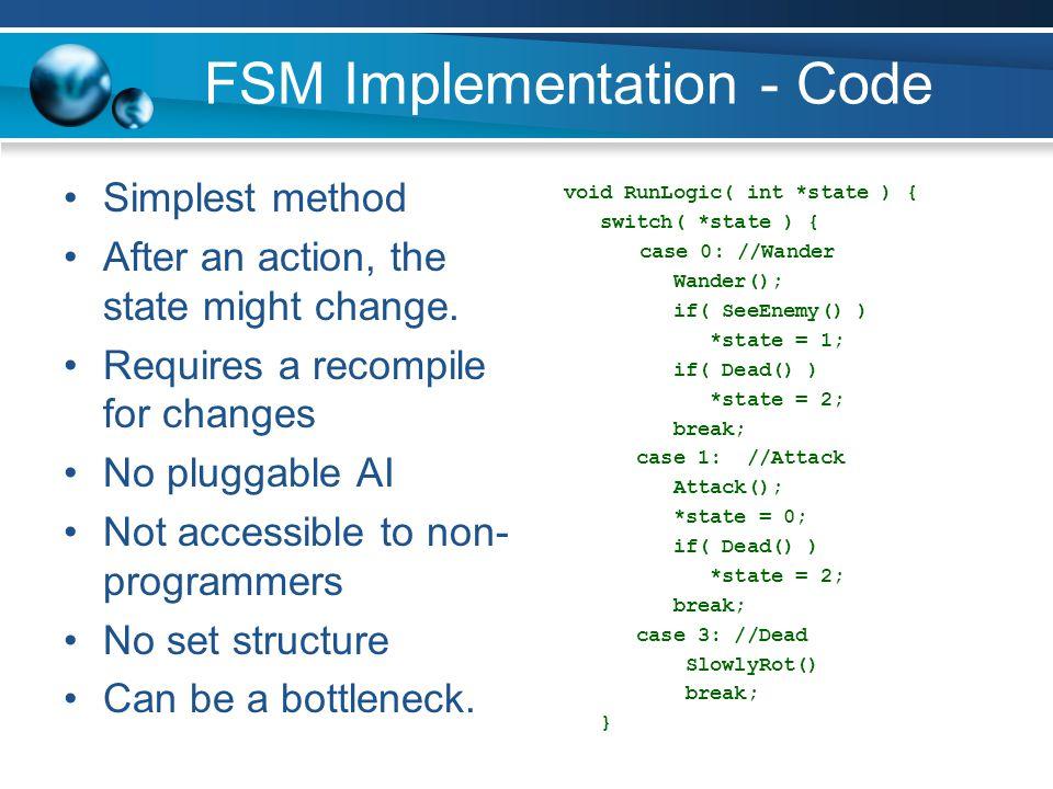 FSM Implementation - Code
