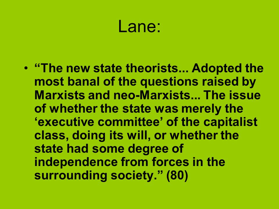 Lane: