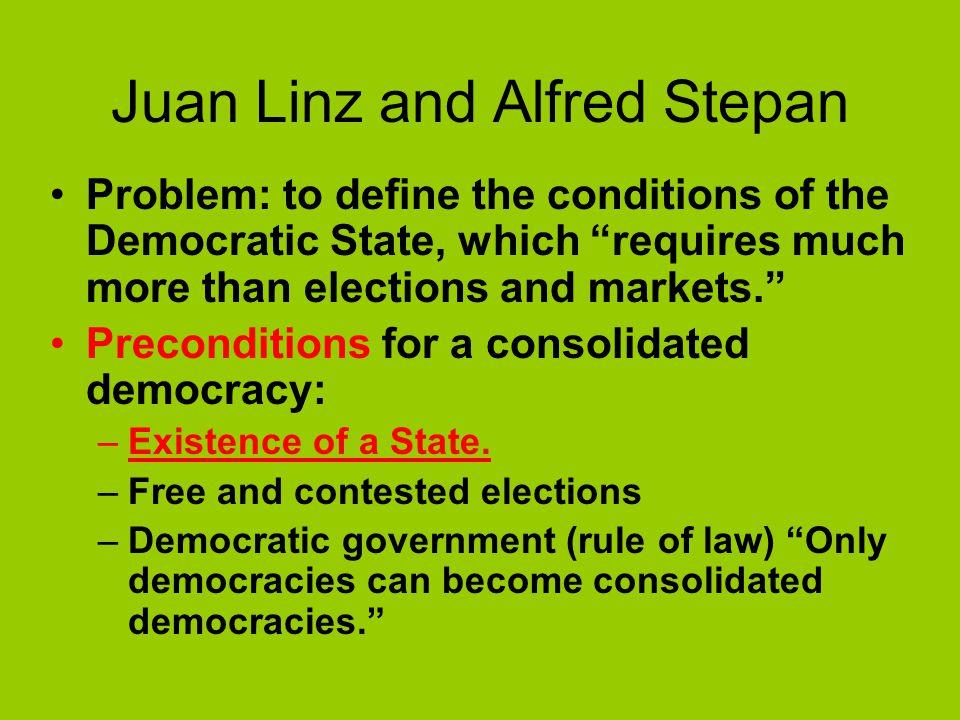 Juan Linz and Alfred Stepan