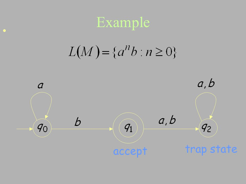 Example trap state accept