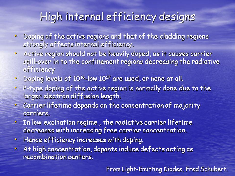 High internal efficiency designs