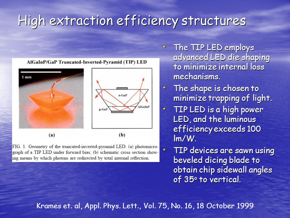 High extraction efficiency structures