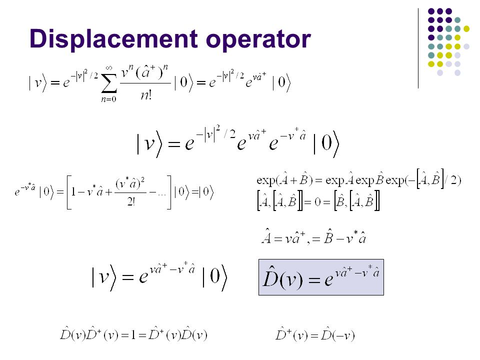 Displacement operator