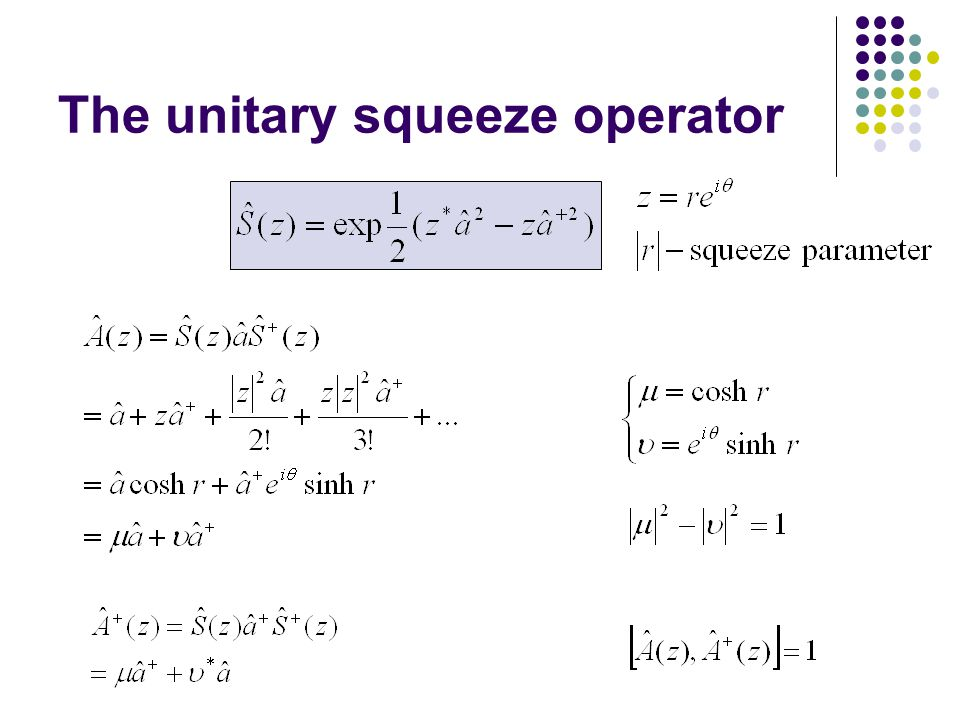 The unitary squeeze operator