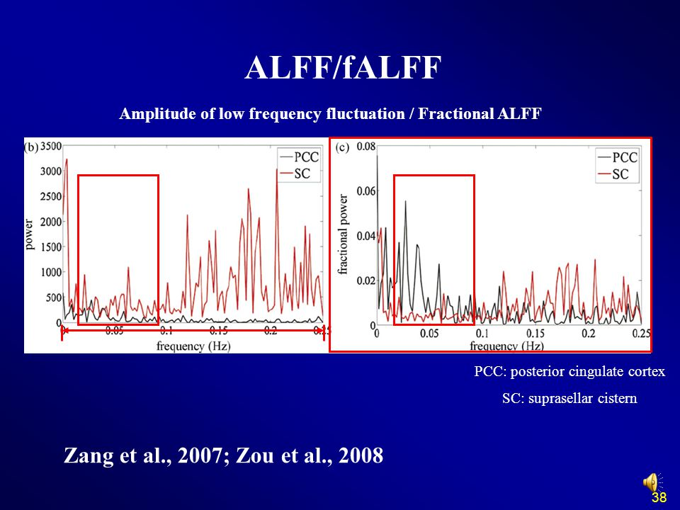 Amplitude of low frequency fluctuation / Fractional ALFF