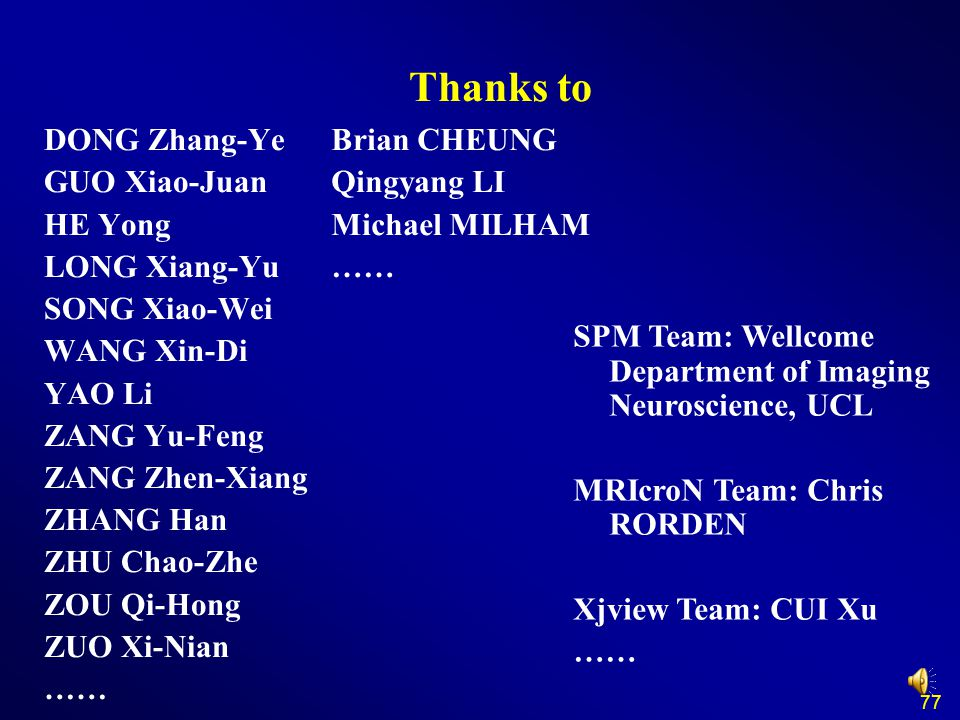 Thanks to DONG Zhang-Ye GUO Xiao-Juan HE Yong LONG Xiang-Yu
