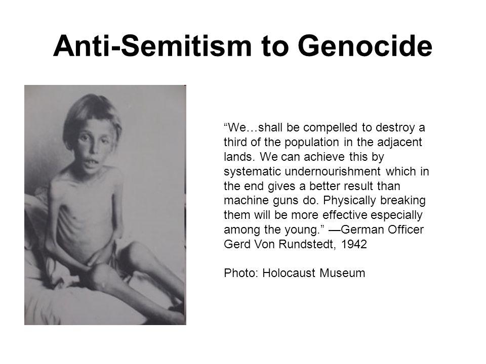 Anti-Semitism to Genocide