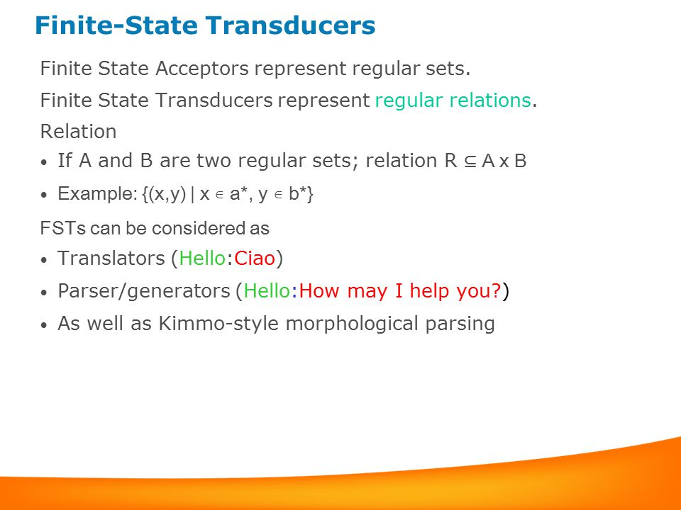 Finite-State Transducers