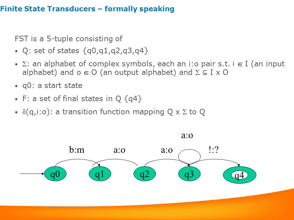 Finite State Transducers – formally speaking