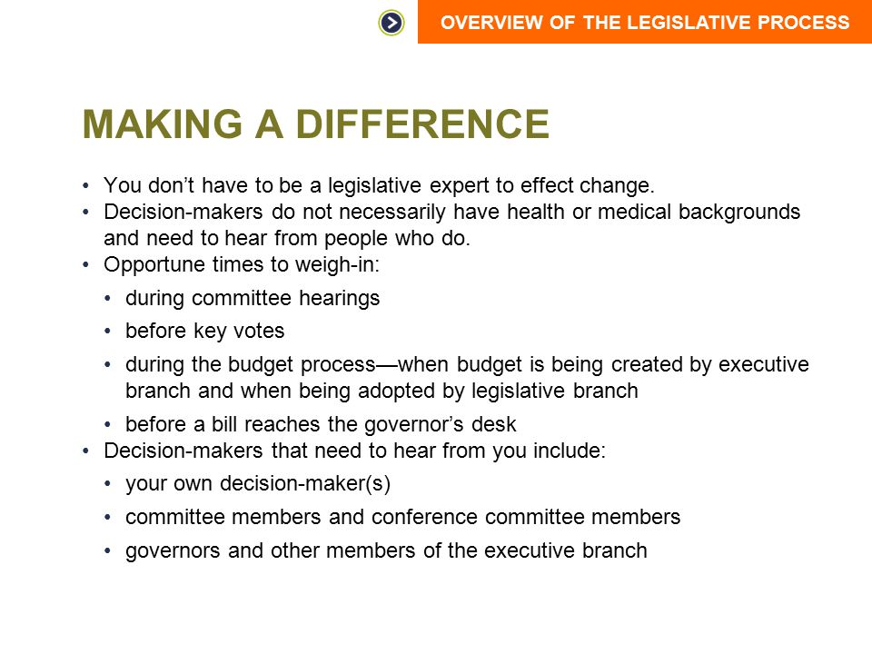 Making a Difference You don't have to be a legislative expert to effect change.