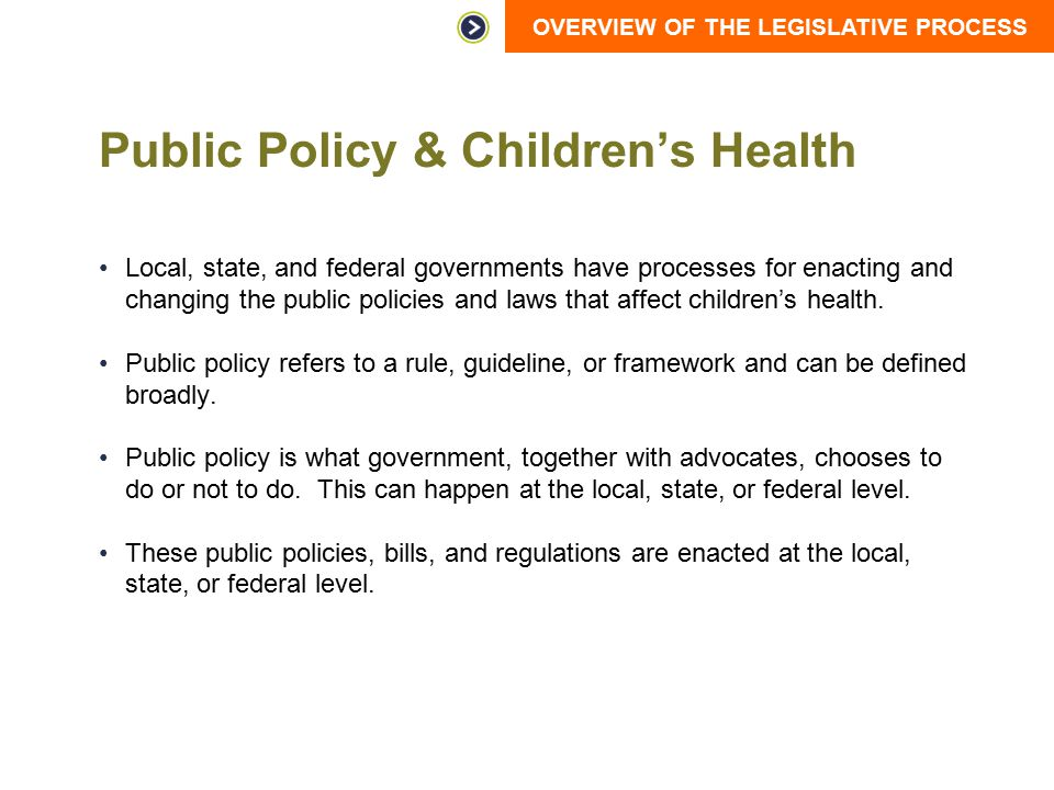 Public Policy & Children's Health