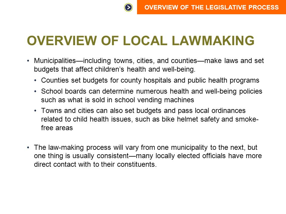 Overview of Local Lawmaking