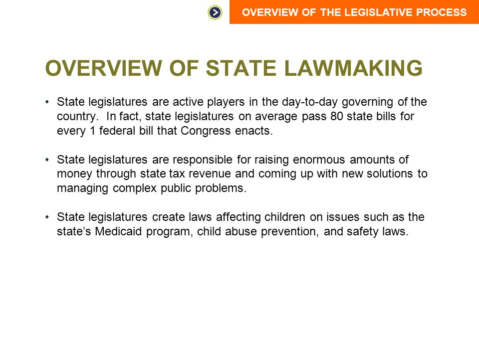 Overview of State Lawmaking