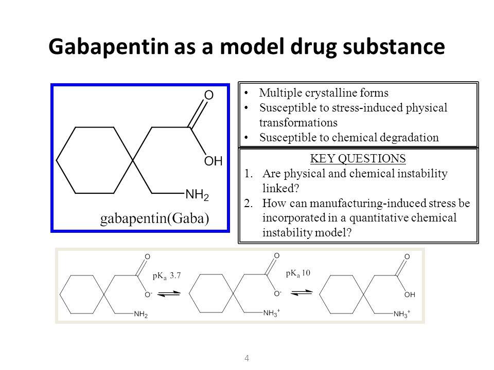 Gabapentin as a model drug substance