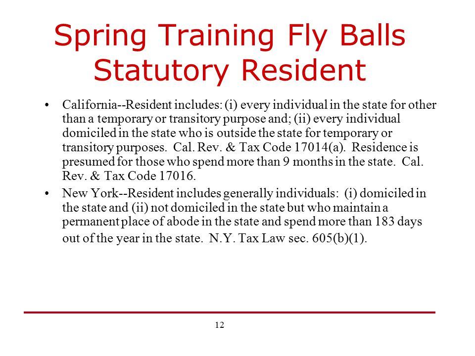 Spring Training Fly Balls Statutory Resident