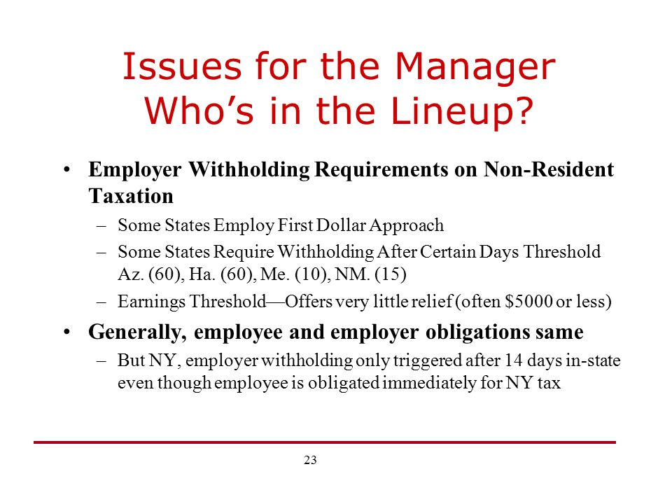 Issues for the Manager Who's in the Lineup