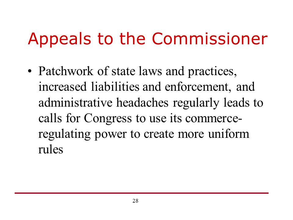 Appeals to the Commissioner