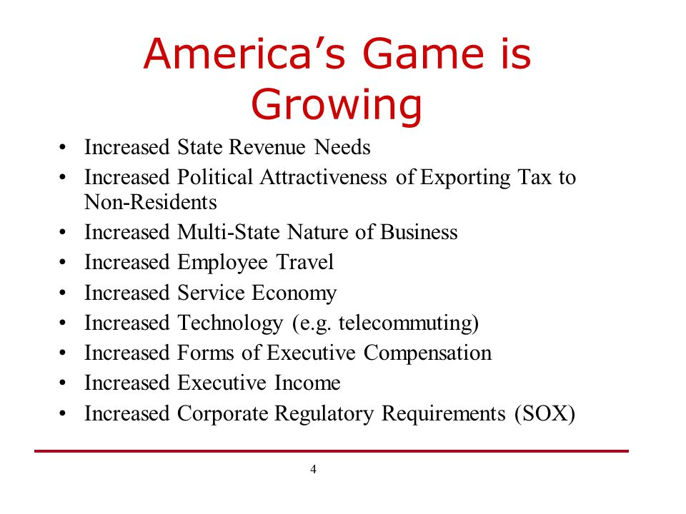 America's Game is Growing