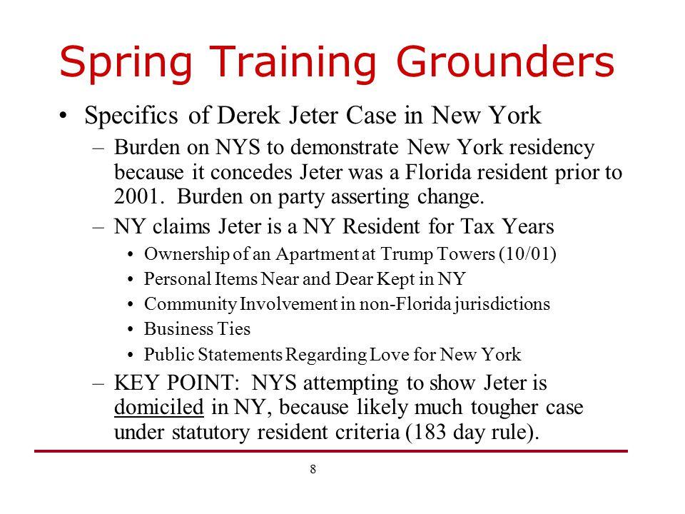 Spring Training Grounders