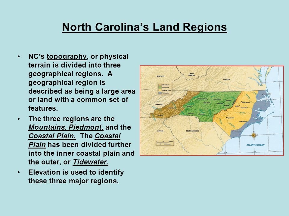 North Carolina's Land Regions