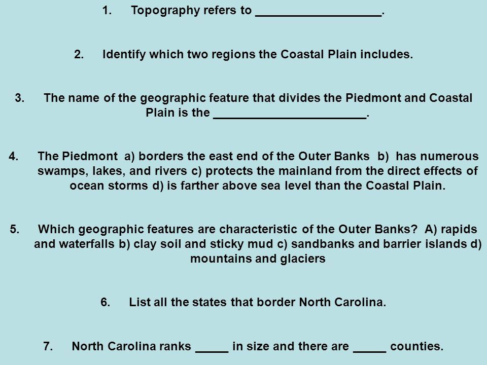 Topography refers to ___________________.