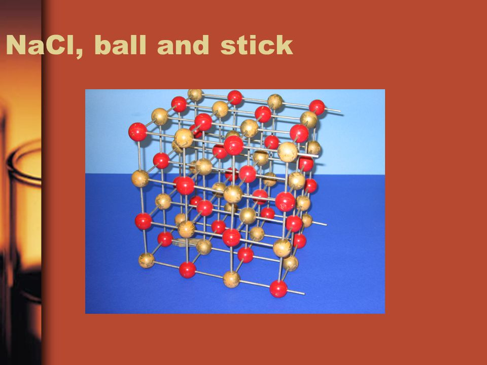 NaCl, ball and stick
