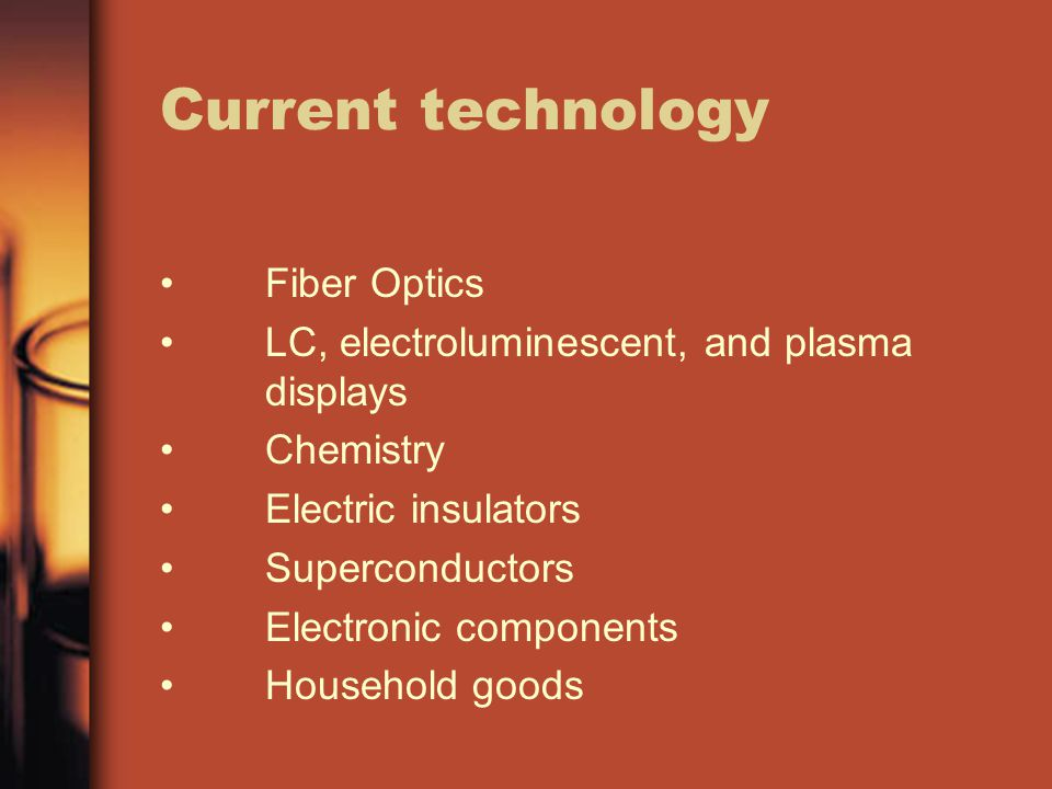 Current technology Fiber Optics