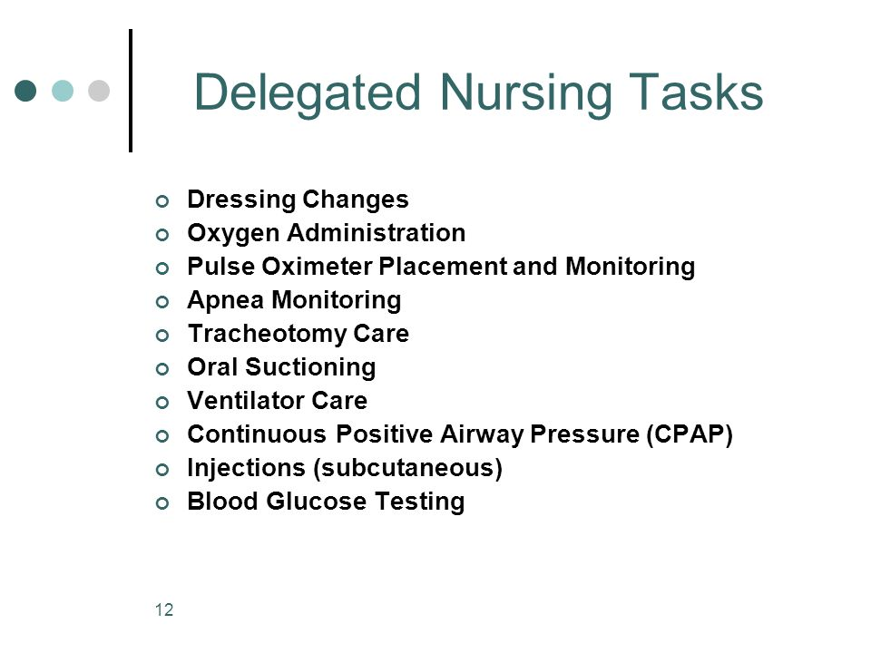 Delegated Nursing Tasks