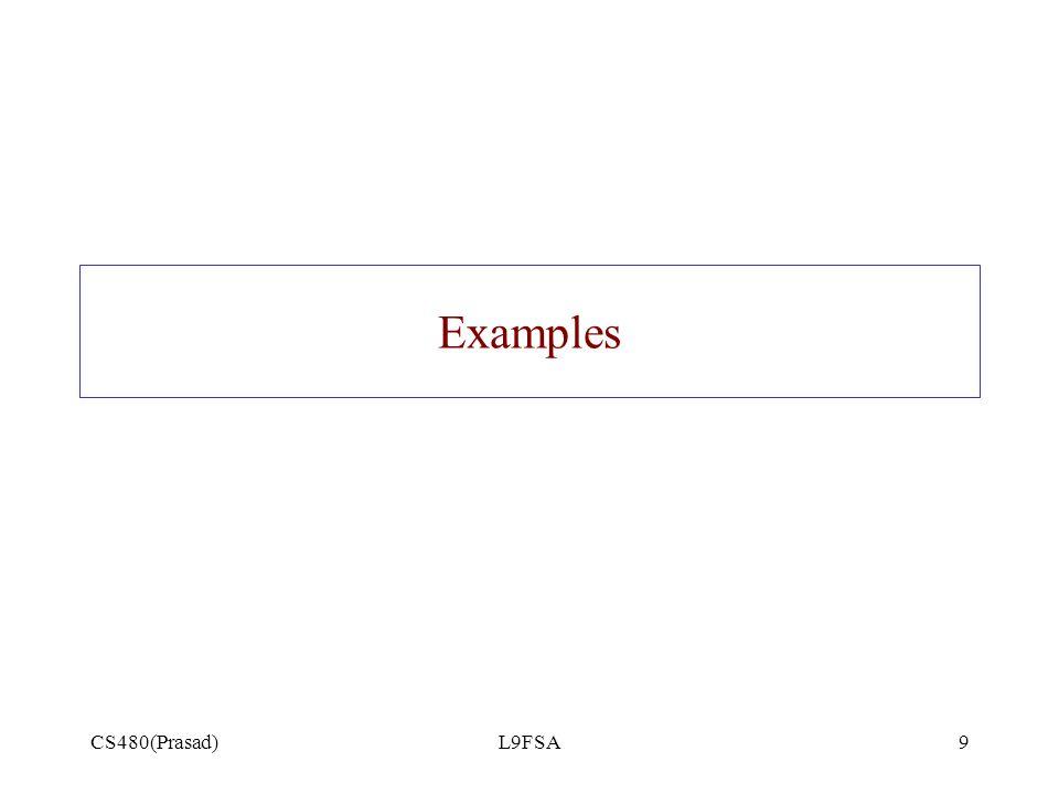 Examples CS480(Prasad) L9FSA