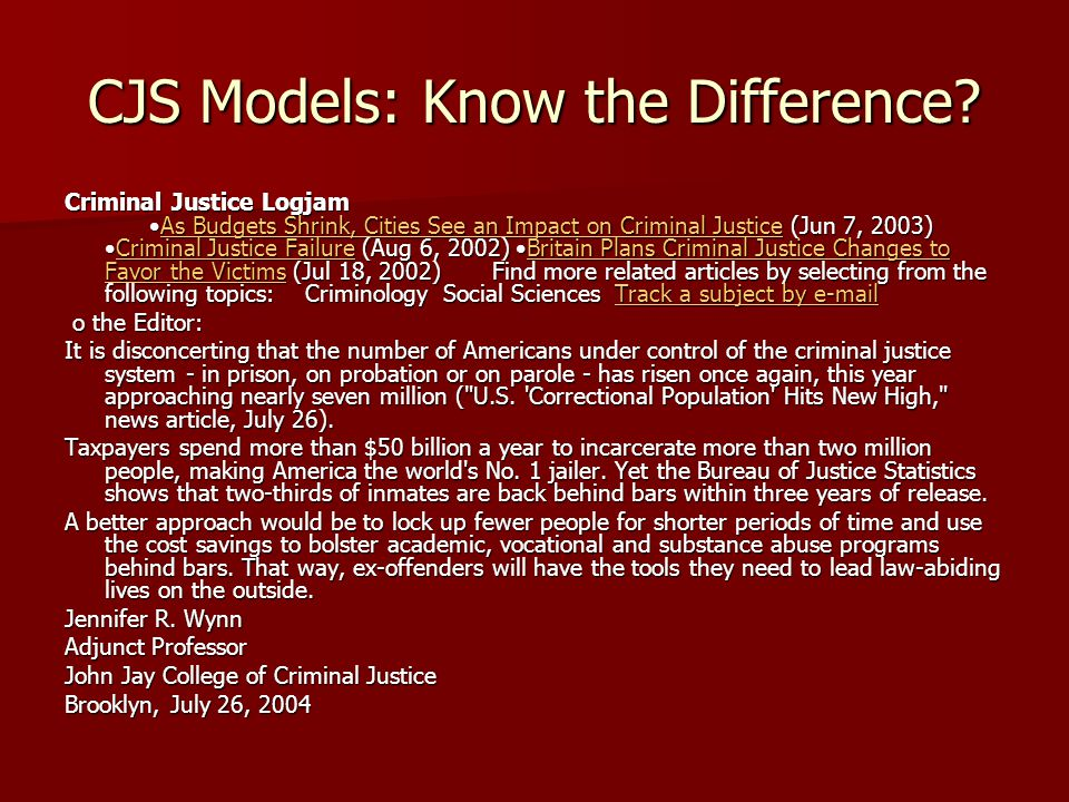 CJS Models: Know the Difference