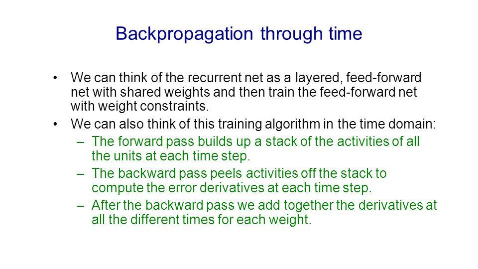Backpropagation through time