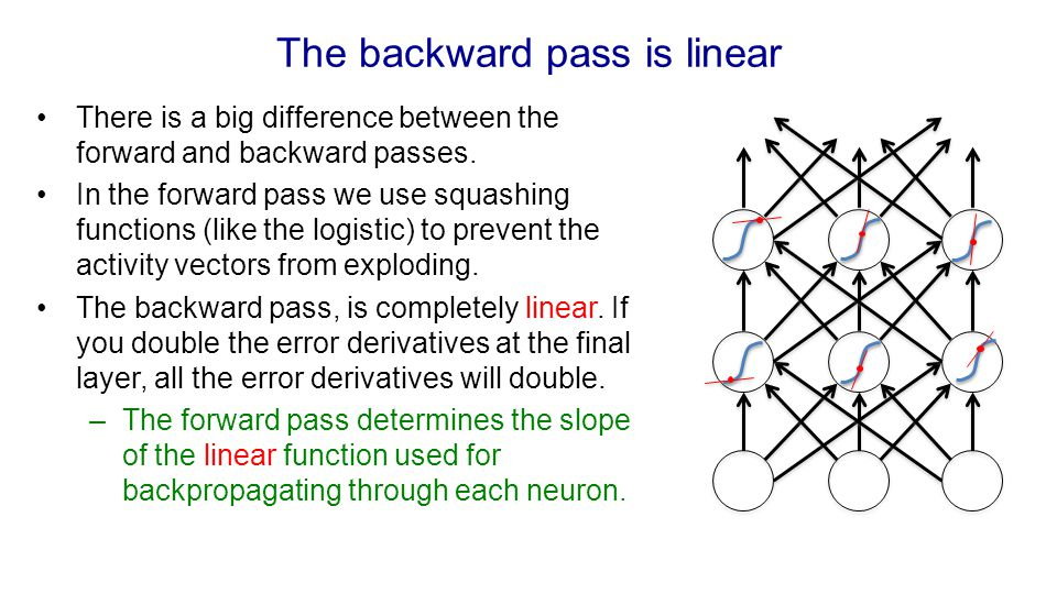 The backward pass is linear