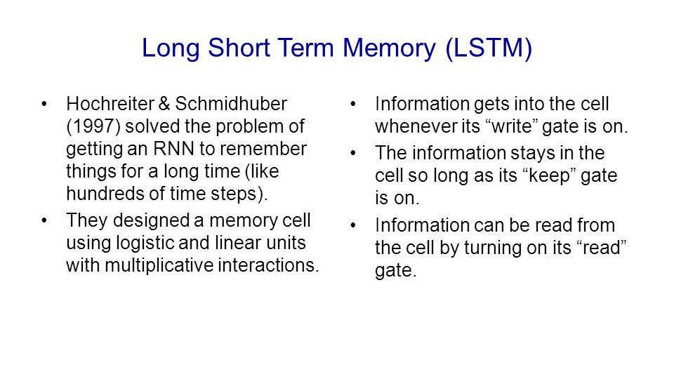 Long Short Term Memory (LSTM)
